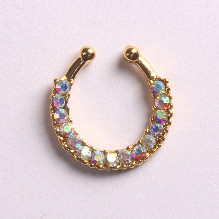 'BLING'  GOLD - FAUX SEPTUM PIERCING