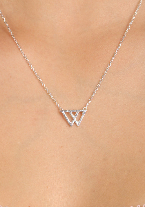 W - Silver plated necklace