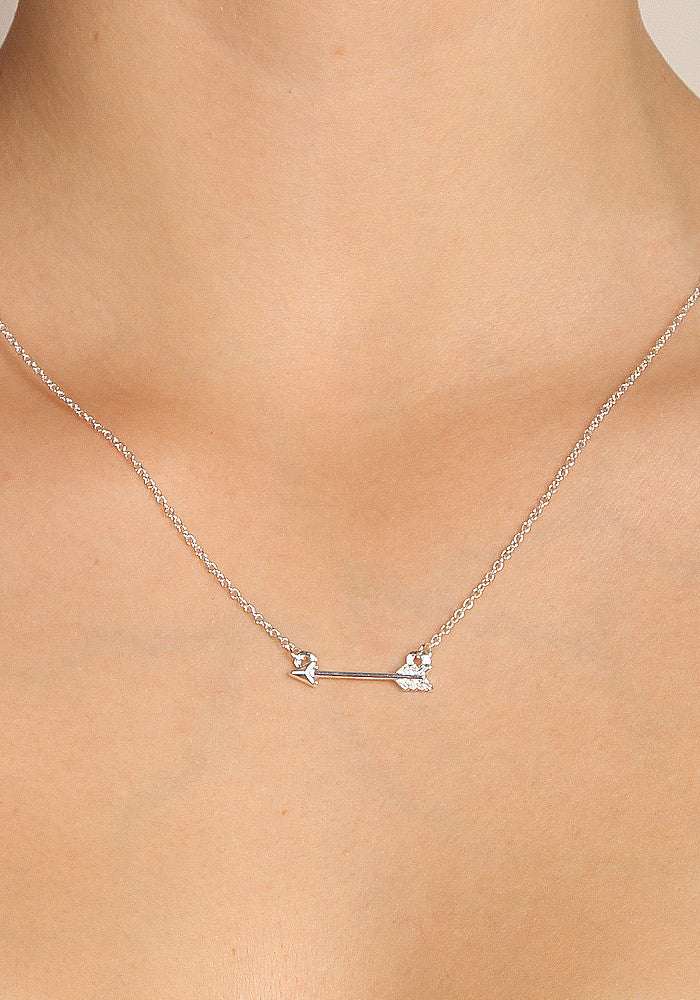 Arrow - Silver plated necklace