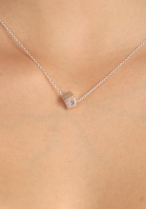 Cube - Silver plated necklace