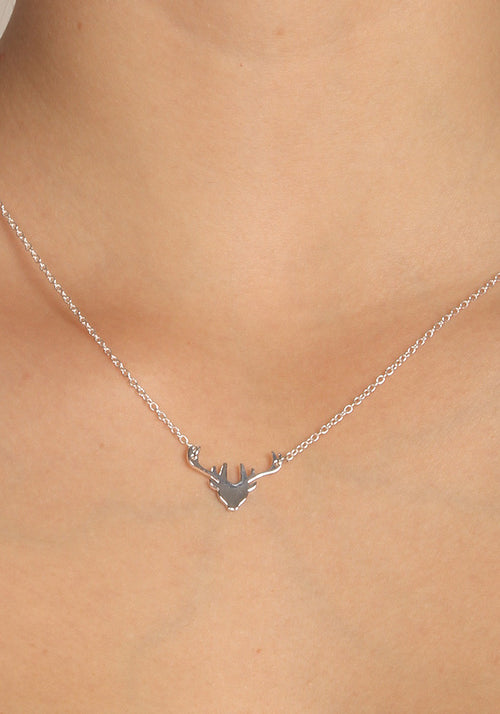 Deer - Silver plated necklace