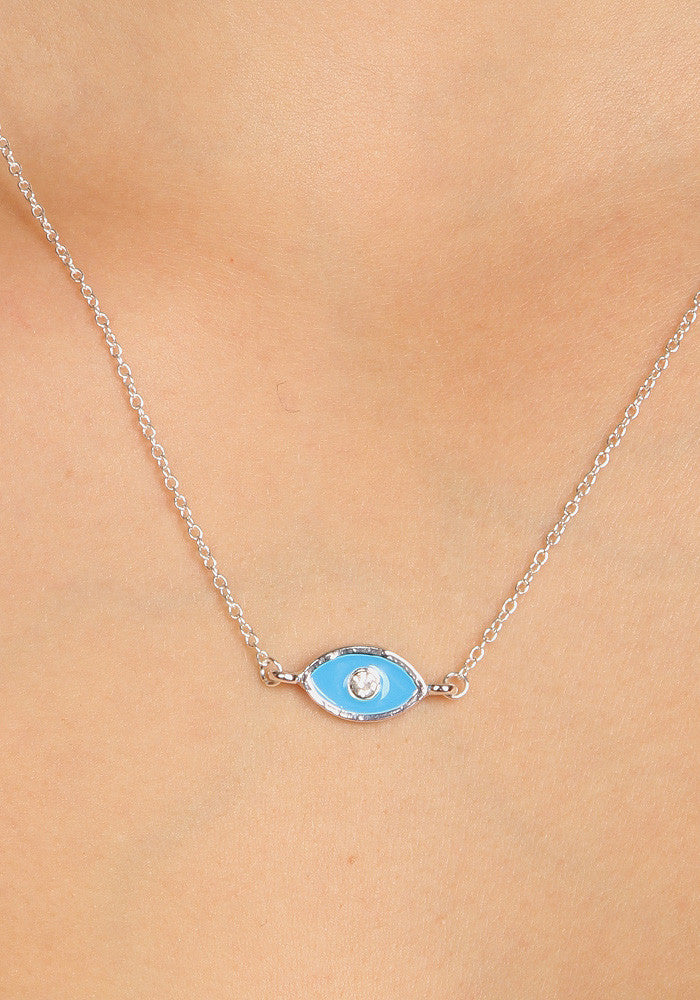 Eye - Silver plated necklace