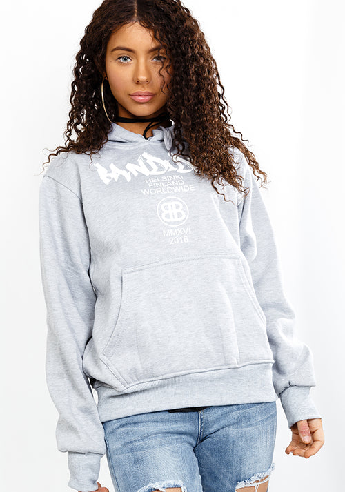 Street classic fit hoodie in grey
