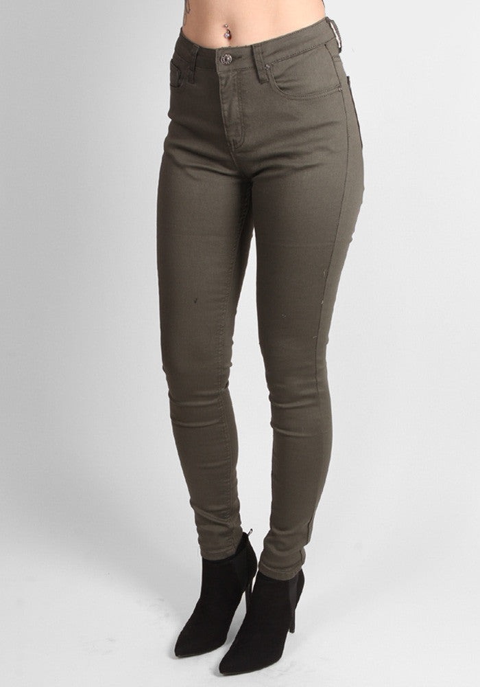 Miss Anna Green Stretch Jeans
