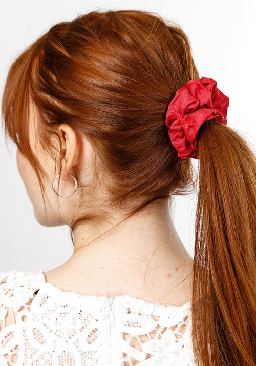 Scrunchie hair tie - plain small (2 piece)
