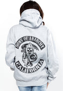 Sons of anarchy oversize hoodie in light grey
