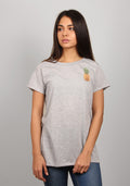 PINAPPLE SPLIT TEE, GREY - BNDS