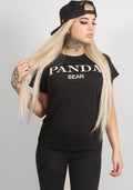 Panda Long tee in black