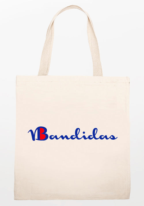 Bandidas wavy tote bag in white