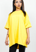 Bandidas oversize plain tee in yellow