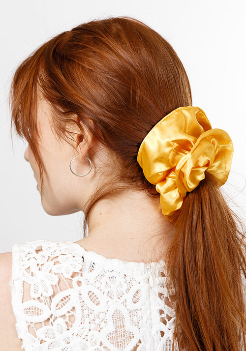 Scrunchie hair tie - plain large (2 piece)