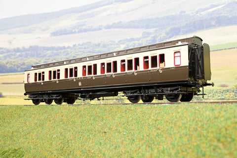 Lee Marsh Model Co. O Gauge GWR Dia E54 1st/3rd Clerestory Coach '7407', 1927 Livery
