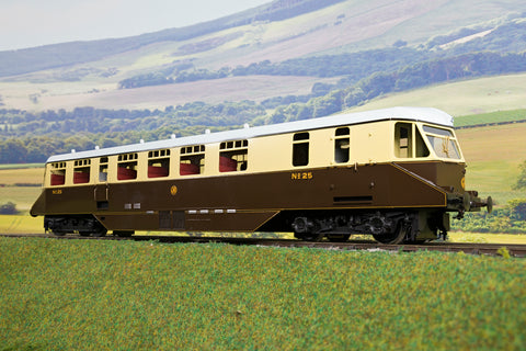 SanCheng/Tower Models Finescale British O Gauge GWR Passenger Railcar Choc/Cream
