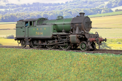 7mm Finescale O Gauge Kit Built LNER Apple Green V1/3' '7684', DCC Sound & Weathered