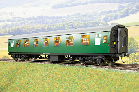 Darstaed 7mm Finescale O Gauge Mk1 RFO (Restaurant First Open) SR Green, Newly Tooled Bogies & Wheels