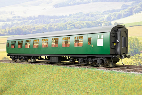 Darstaed 7mm Finescale O Gauge Mk1 RSO (Restaurant Second Open) SR Green, Newly Tooled Bogies & Wheels