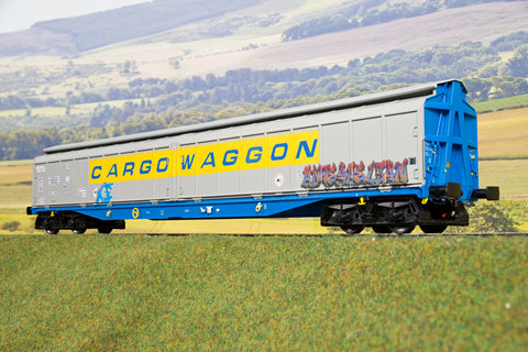 Heljan 7mm Finescale O Gauge 5051 IWB Cargowagon Graffitied '2797 591'