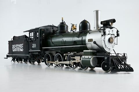 BLW (Berlyn Locomotive Works) 1:20.3 G Scale (45mm Gauge) RGS 4-6-0, DCC Sound!