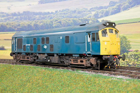 Kit Built Finescale O Gauge JLTRT BR Blue Class 25 Diesel '25 046', Weathered