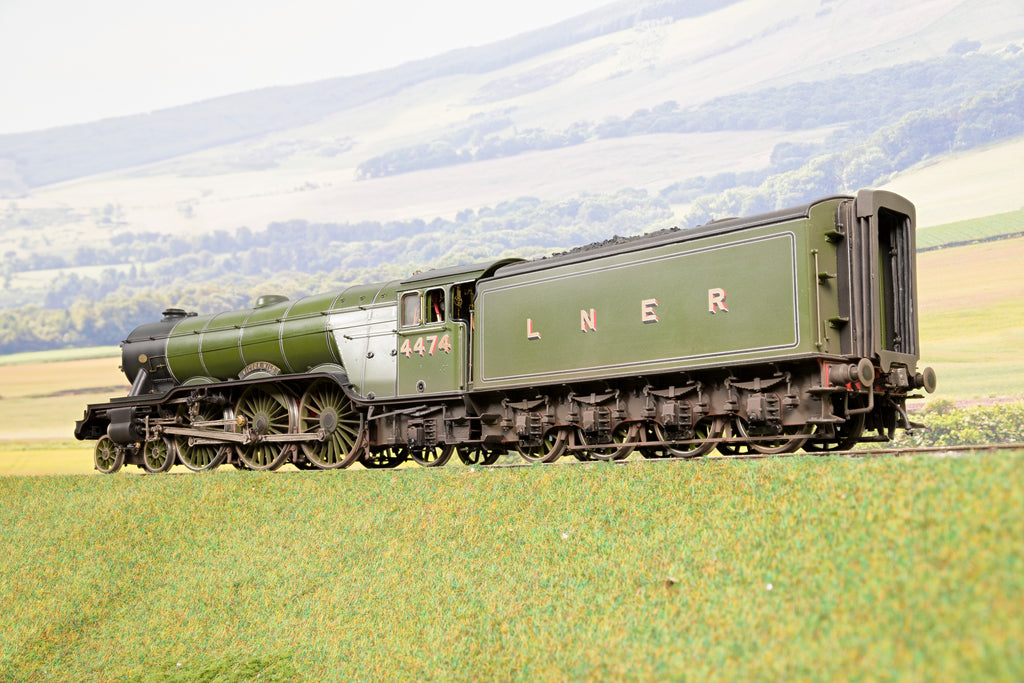 LH Loveless Finescale O Gauge LNER A3 '4474' 'Victor Wild', DCC Sound, Smoke & Weathered