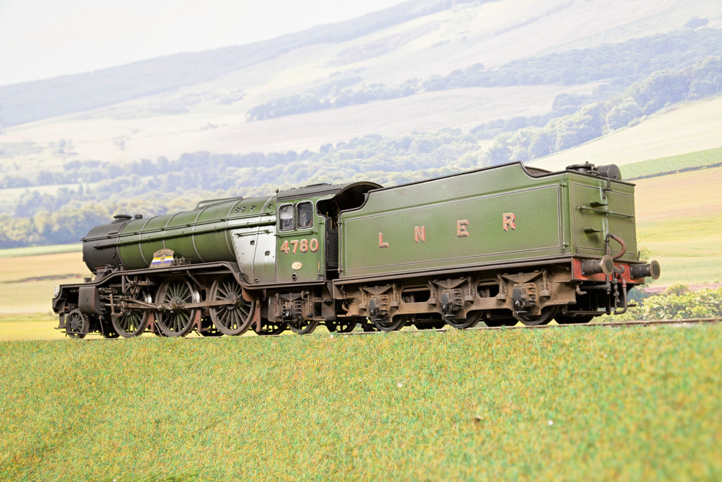 Sancheng Finescale O Gauge LNER Green V2 2-6-2 '4780' 'The Snapper', DCC Sound, Smoke & Weathered