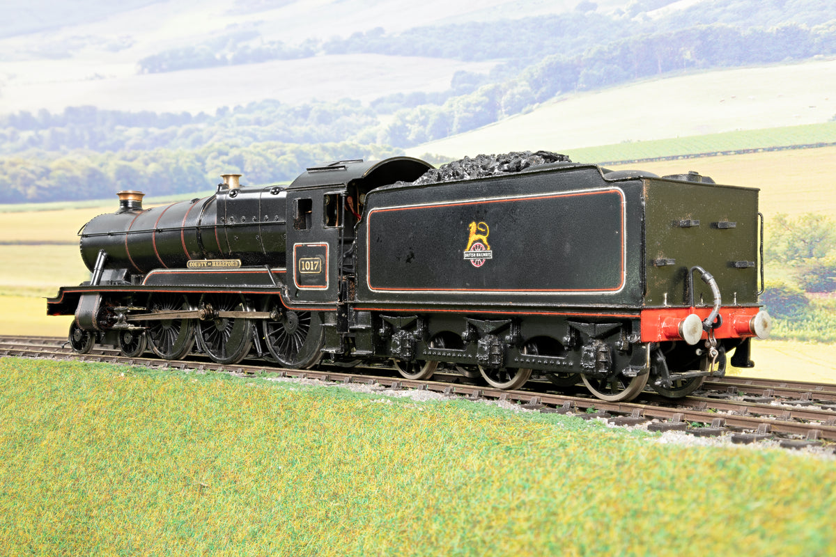 Scratch/Kit Built Finescale O Gauge BR Lined Black County Class '1017' 'County of Hereford'