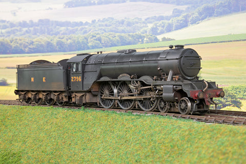 7mm Finescale O Gauge Kit Built NE Black A3 4-6-2 '2796' 'Spearmint' Weathered DCC Sound!