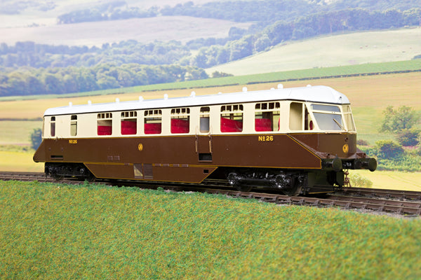 Sancheng/Tower Models 7mm Finescale O Gauge GWR Chocolate & Cream Railcar '26'