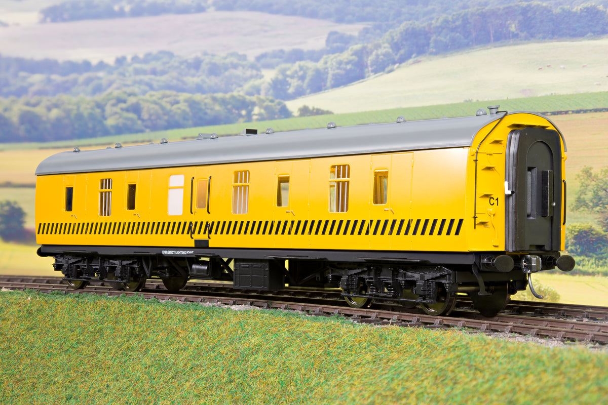 Darstaed Finescale O Gauge D22-11 Mk1 57' BG, Departmental Yellow