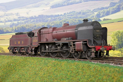 7mm Finescale O Gauge Kit Built LMS Maroon Patriot Class 4-6-0 '5538' 'Giggleswick' Weathered!
