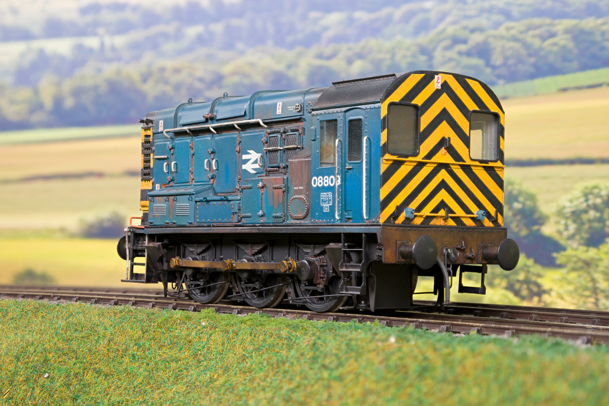 Sancheng 7mm Finescale O Gauge BR Blue 08 Shunter '08809' Weathered!
