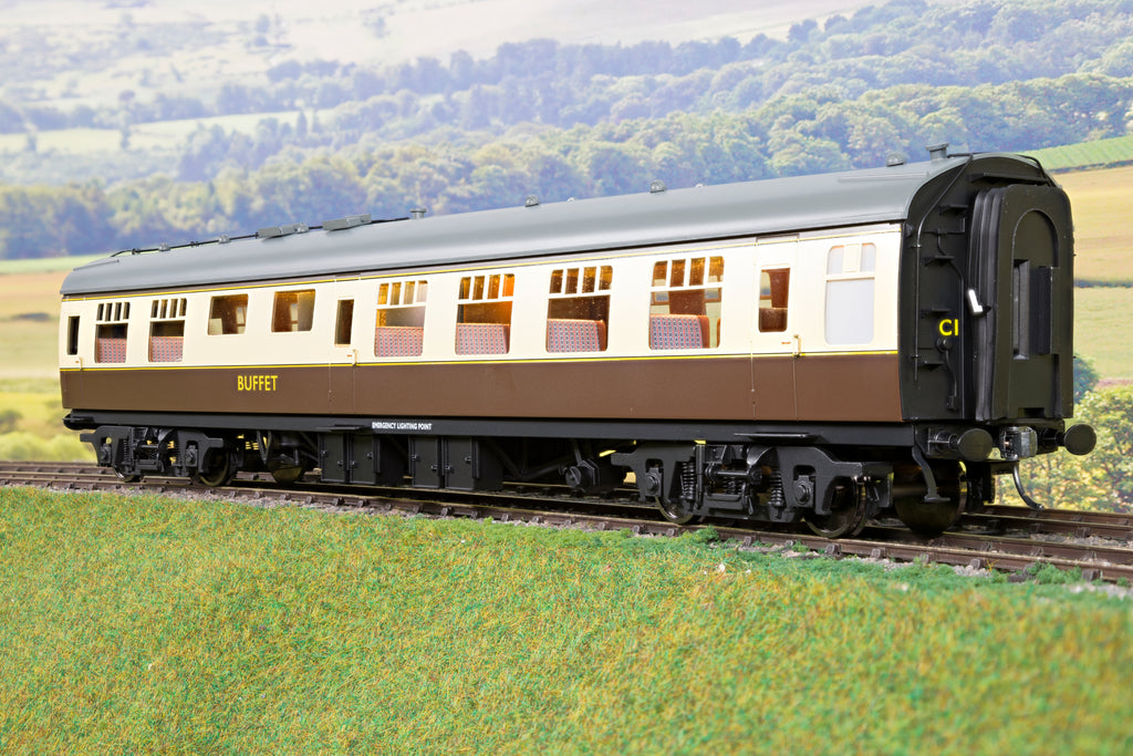 Darstaed 7mm O Gauge Finescale Chocolate & Cream BR Mk1 RMB (Miniature Buffet) with Commonwealth Bogies