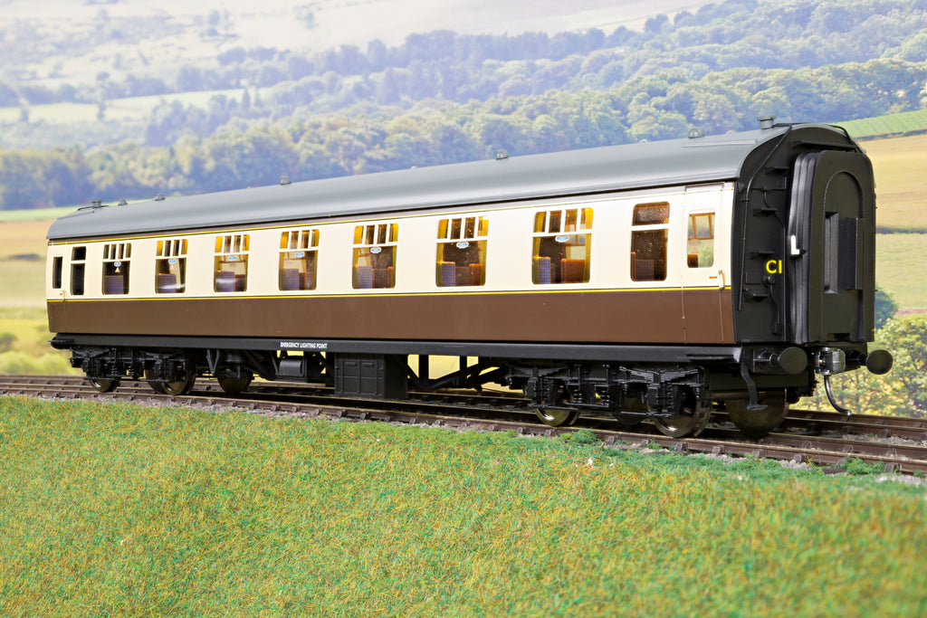 Darstaed 7mm Finescale O Gauge Mk1 RFO (Restaurant First Open) Choc & Cream, Newly Tooled Bogies & Wheels