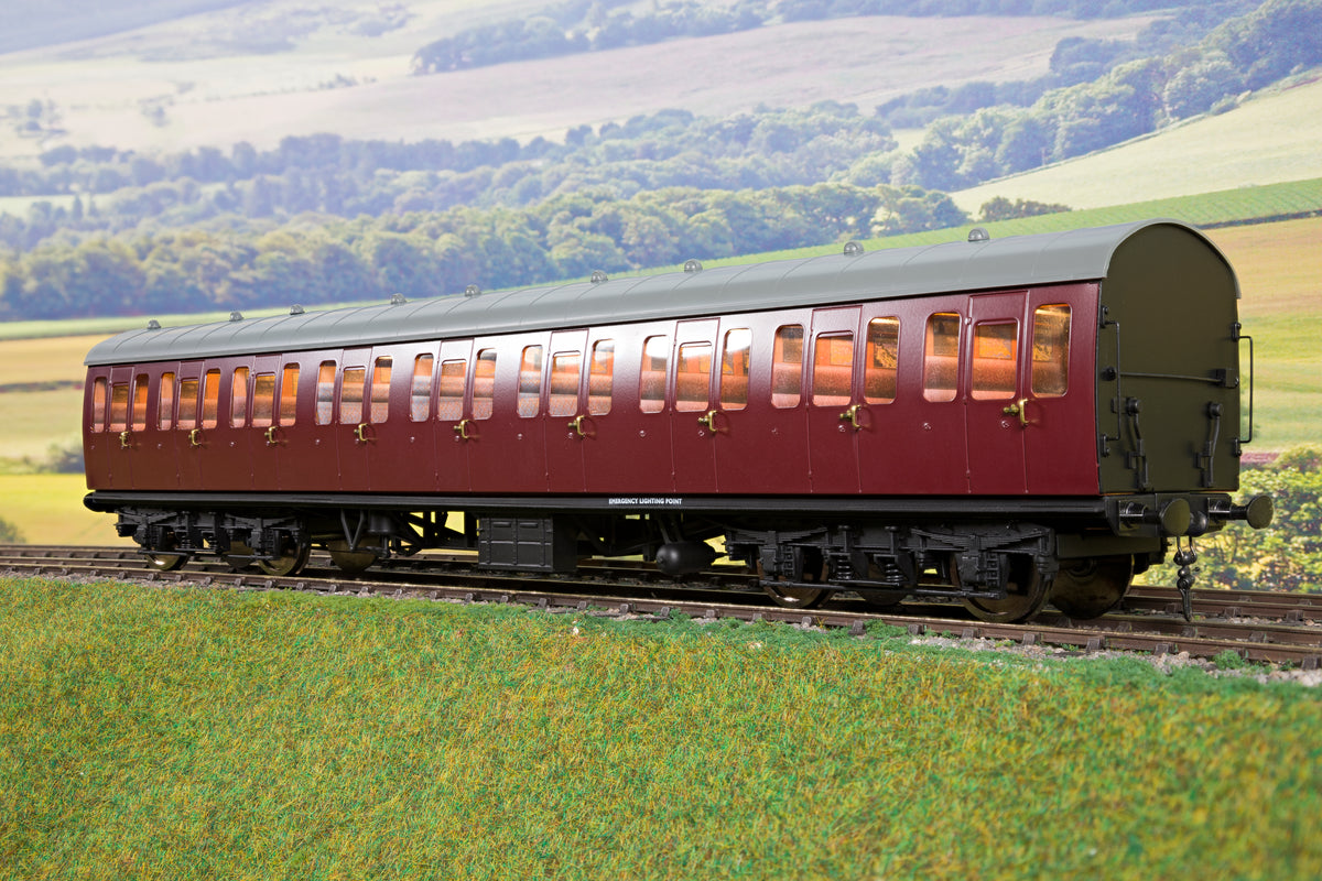 Darstaed D23-2-2 7mm Finescale O Gauge BR 57' Mk1 Suburban Composite (C) Coach, BR Un-Lined Maroon