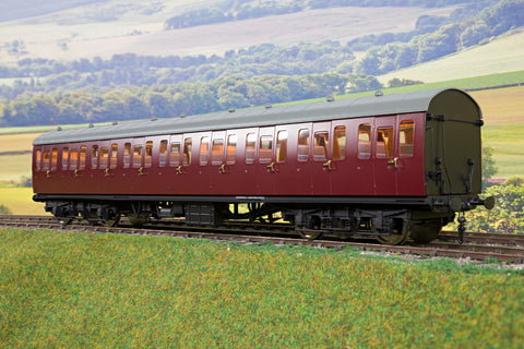 Darstaed D23-6-2 7mm Finescale O Gauge BR 57' Mk1 Suburban Second Open (SO) Coach, BR Maroon