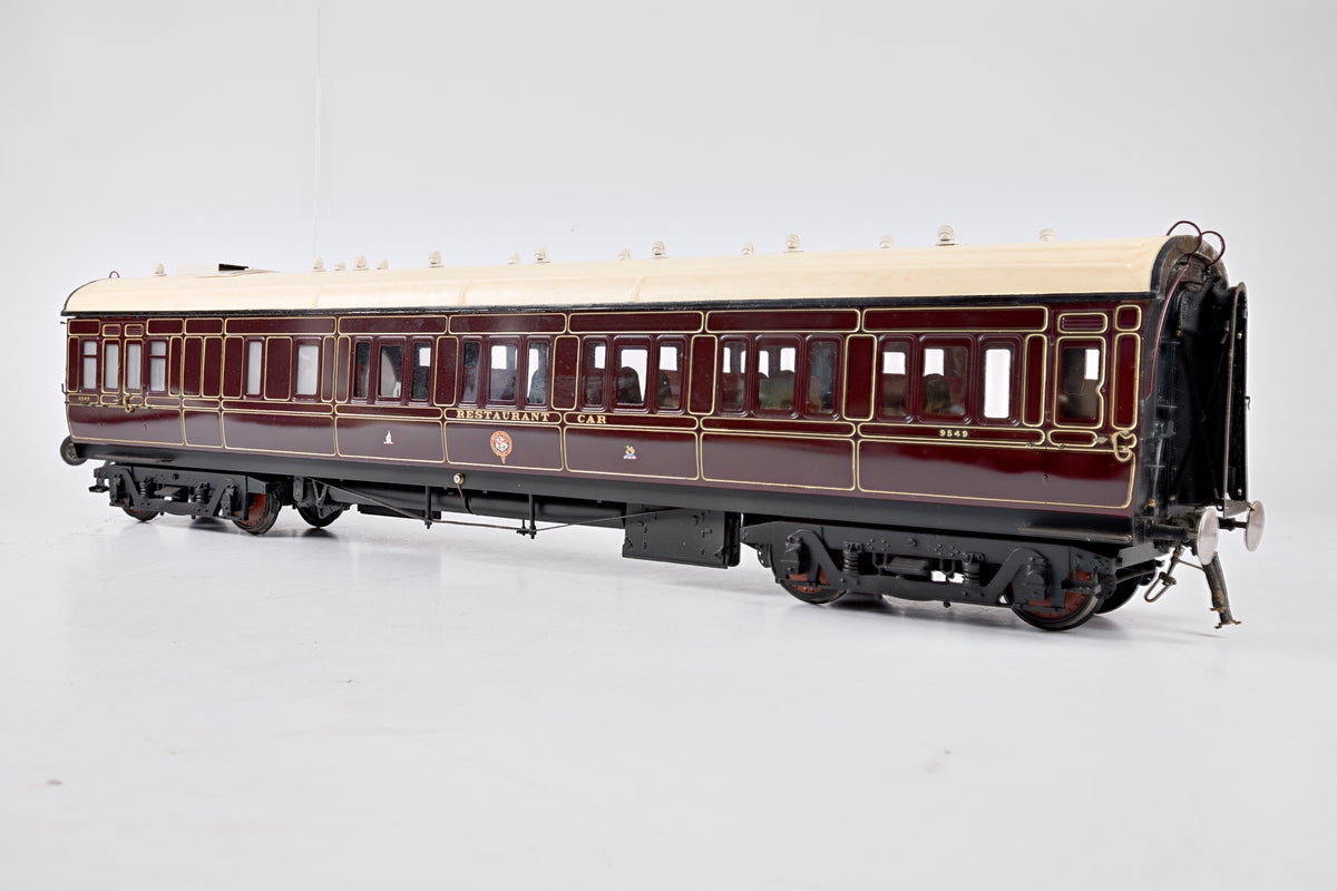 Badger Coaches 10mm Gauge 1 Rake of 7 GWR Toplight Corridor Coaches, Lined Maroon