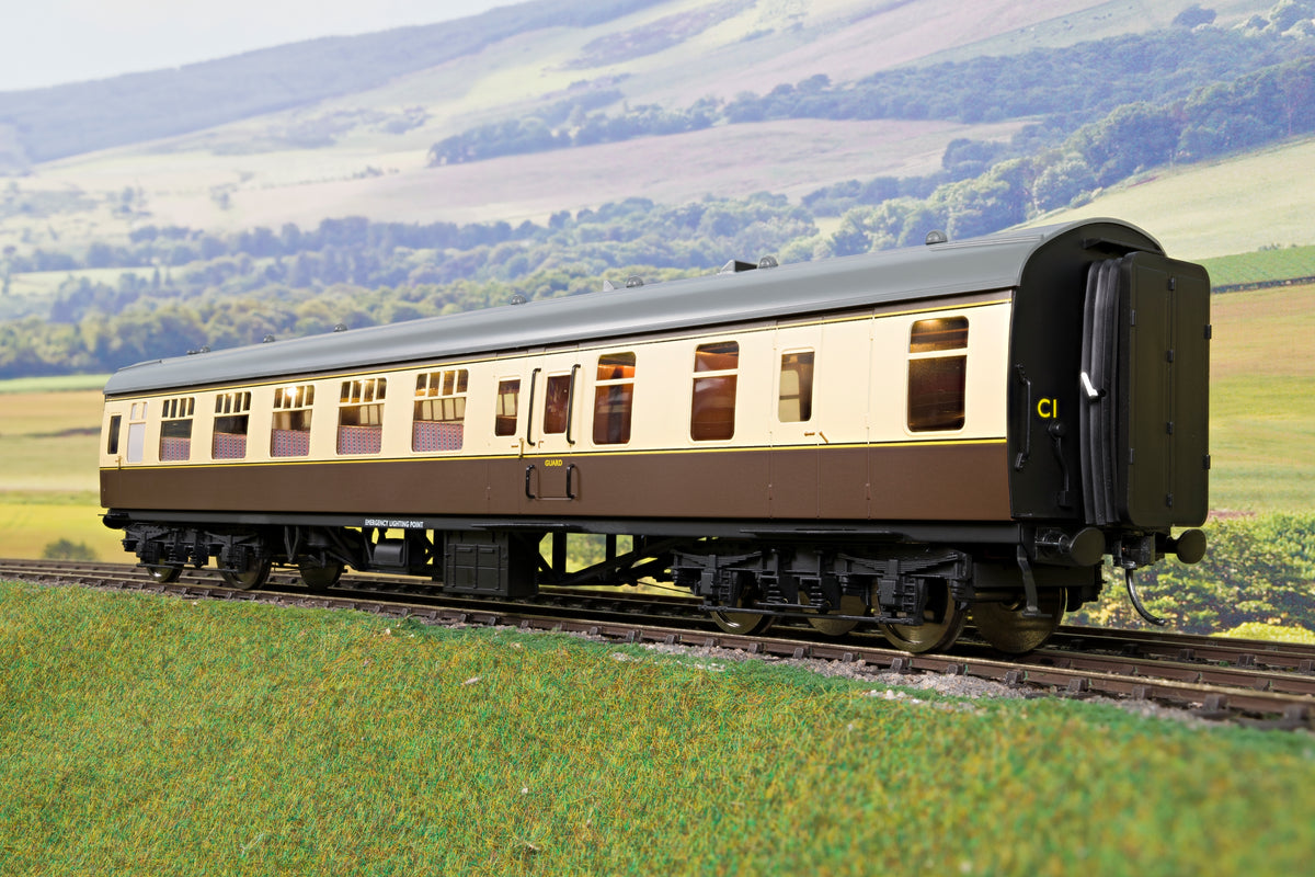 Darstaed D21-2-12 Finescale O Gauge BR Mk1 BSO (Brake Second Open), Choc & Cream
