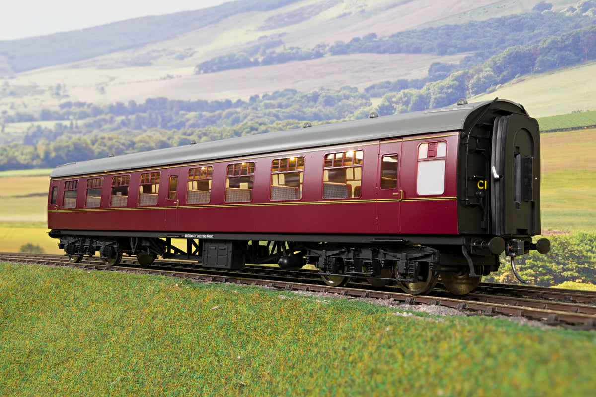 Darstaed D21-5-06 Finescale O Gauge BR Mk1 TSO (Tourist Second Open), Lined Maroon