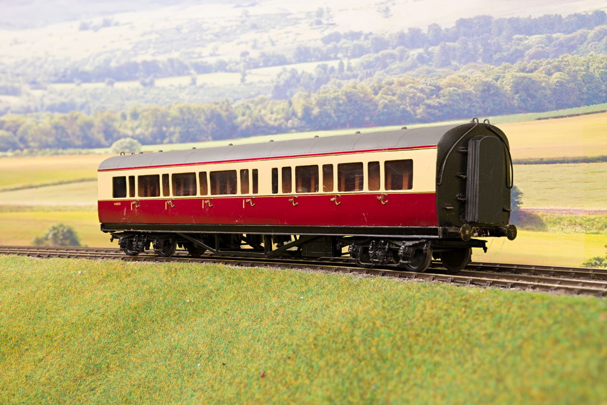 Kit Built Finescale O Gauge Rake of 4 Ex-GWR Collett Coaches, BR Crimson & Cream/Maroon