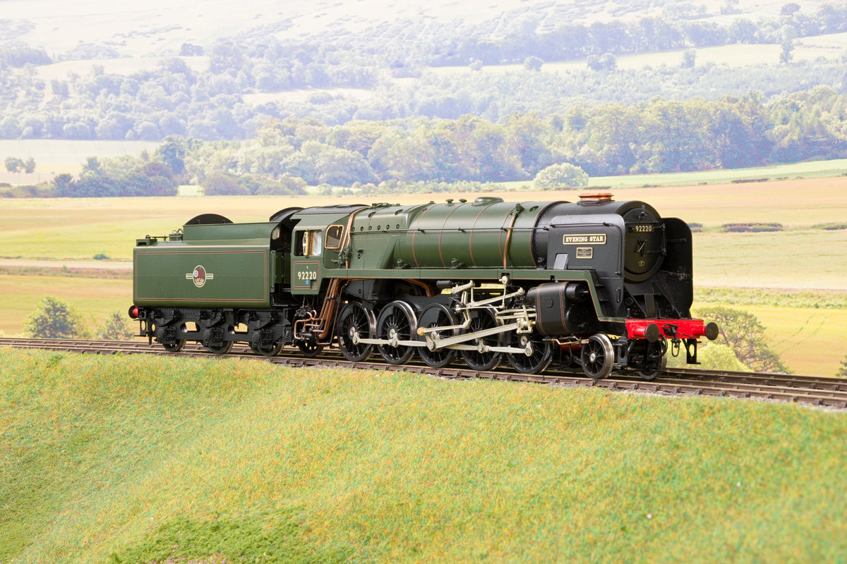 55H Finescale O Gauge BR Standard 2-10-0 9F '92220' 'Evening Star', BR Green Late Logo