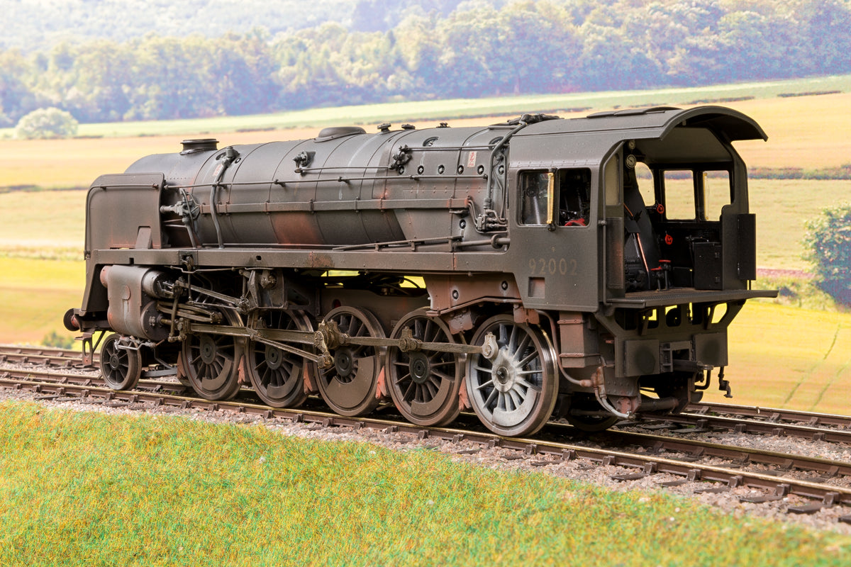 55H Finescale O Gauge BR Black 9F 2-10-0 '92002' with Coal Train, Weathered