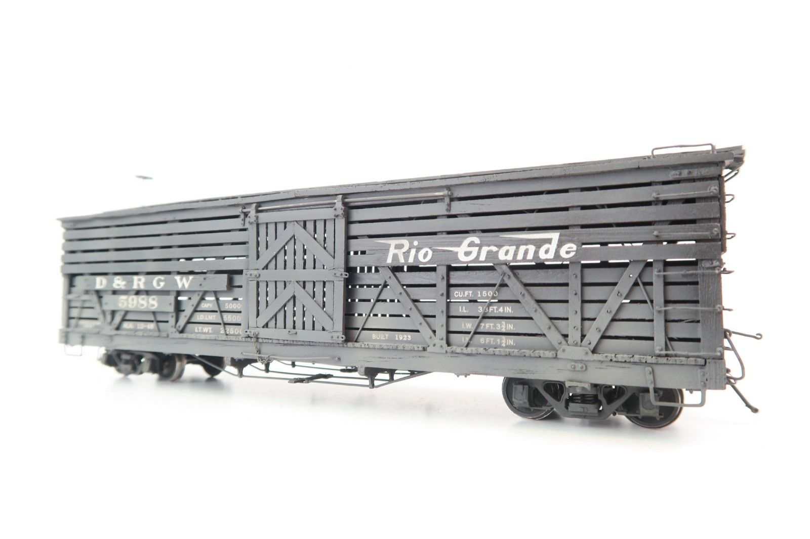 Iron Horse Models (PSC) On3 D&RGW Real Wood Series 34' Stock Car #5988