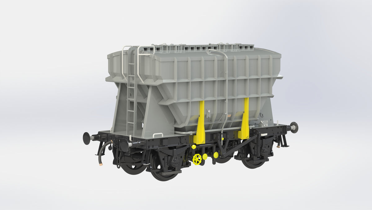 Ellis Clark Trains E73-1-4U Finescale O Gauge Presflo Wagon Plain Grey 'Un-numbered' (Pre-order)