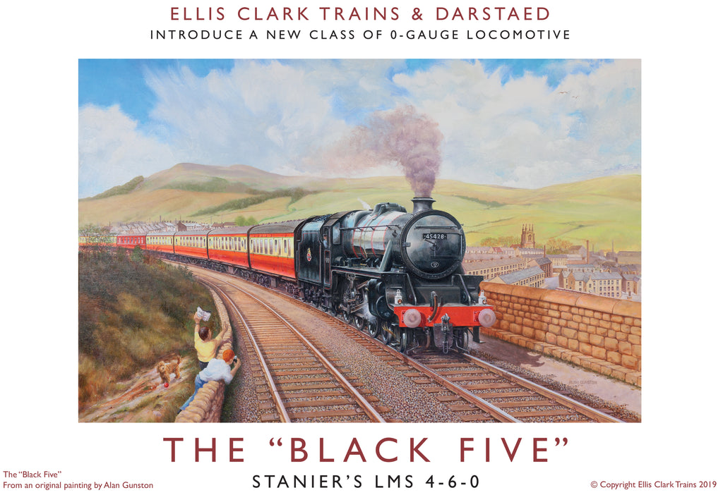"Darstaed D11-12 7mm Finescale O Gauge Stanier Class 5 4-6-0 ""Black 5"", Late BR Lined, '45337' with Welded Tender (pre-order)"