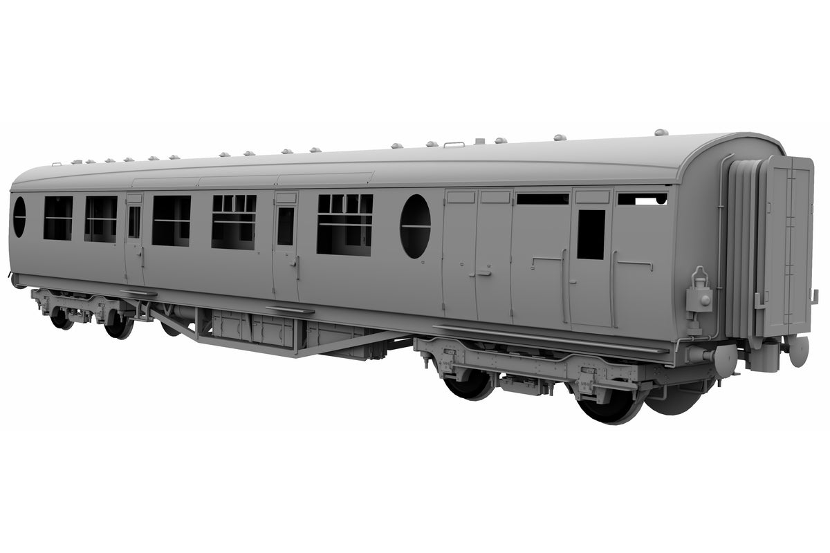 Darstaed D24-3-03RU Finescale O Gauge LNER/BR Thompson Mainline BCK (Brake Composite) Coach, Lined Maroon 'Un-numbered' (Pre-order)