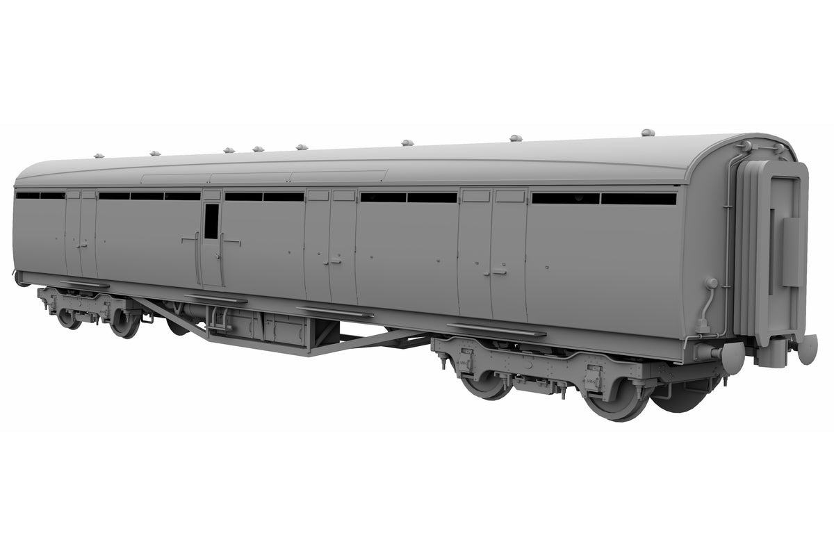 Darstaed D24-4-07A Finescale O Gauge LNER/BR Thompson Mainline BG (Full Brake) Coach, BR Crimson 'E100E' (Pre-order)