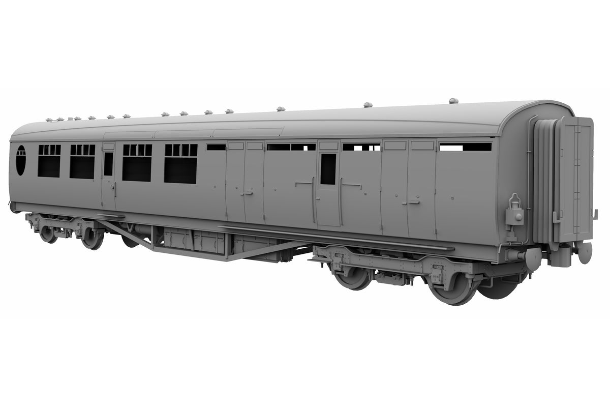 Darstaed D24-1-02U Finescale O Gauge LNER/BR Thompson Mainline BTK (Brake Third Corridor) Coach, Teak 'Un-numbered' (Pre-order)