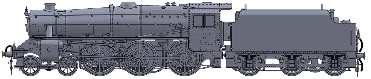 "Darstaed D11-6 7mm Finescale O Gauge Stanier Class 5 4-6-0 ""Black 5"", LMS Black, '5289' with Welded Tender (pre-order)"
