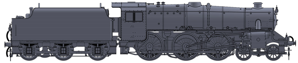 "Darstaed D11-15 7mm Finescale O Gauge Stanier Class 5 4-6-0 ""Black 5"", BR Black, '45305' with Welded Tender (pre-order)"