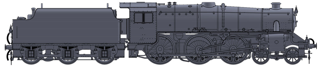 "Darstaed D11-5 7mm Finescale O Gauge Stanier Class 5 4-6-0 ""Black 5"", LMS Black, Un-numbered with Riveted Tender (pre-order)"